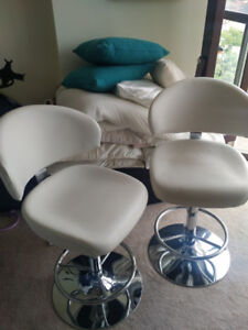 Adjustable Stool Chairs - White - Great Condition