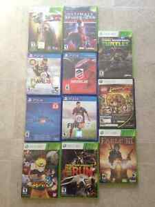 Various XBOX 360 and PS4 Used Games