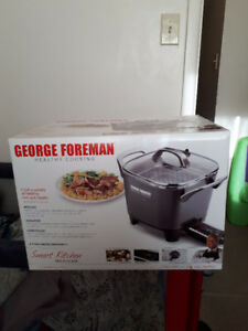 george foreman smart kitchen cooker never used