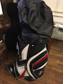 Full set clubs , trolley , balls and tees ideal starter set or gift