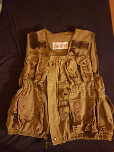 Vintage tactical vest and camo shirt