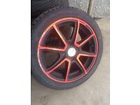 Corsa alloys with 195 / 45 / r15 tyres