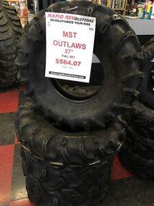 "27"" Outlaw MST Tire Set $564.07 + Taxes! ATV/UTV Tire & Rim Sale"