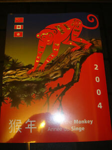 2004 Canada Post Year of the Monkey Booklet and Stamps