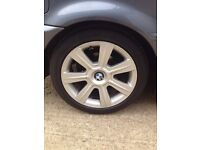 "17"" BMW alloy wheels and good tyres 5 X 120"