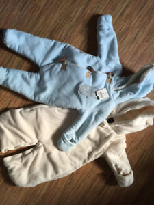 Baby snow suits 3-6 and 6-12 months