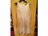 Dorothy Perkins gold skater dress size 18