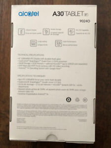Alcatel A30 Tablet for sale [ BRAND NEW FROM BELL, UNOPENED ]