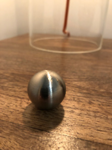 Brushed Nickel finial for a lamp