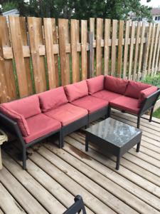 Patio Furniture Sectional with Table