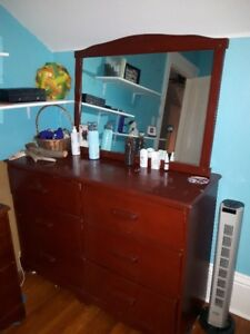 Vintage Dresser, Mirror and Night Stand