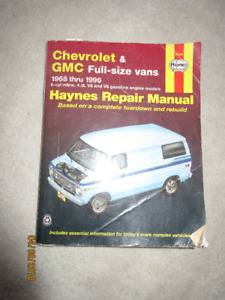 1968 -1996 Chev gmc Full Size Van Hayes Repair Manual