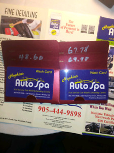 HOPKINS AUTO SPA WHITBY GIFT CERT $90 FOR $118