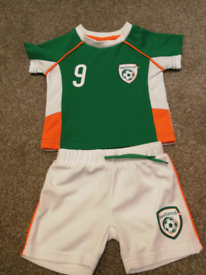 Baby Ireland football kit. 6 to 9 months