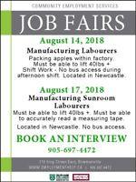 JOB FAIR: MANUFACTURING LABOURER
