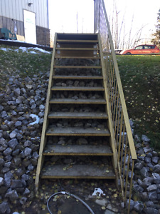 Commercial stairs-steel pan with concrete