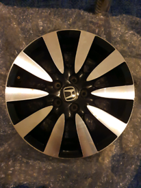 "4x GENUINE HONDA CIVIC MK9 DIAMOND CUT 17"" ALLOY WHEEL 7JX17 (CE11)"