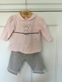 Emile et Rose baby girl 2 piece outfit age 3 months