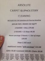 Pure carpet & upholstery cleaning 780-964-1826