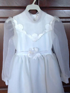 First Communion or Flower Girl Dress w/Floral Crown - Like New! London Ontario image 1