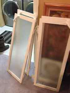 Frosted Glass Cabinet Doors x4