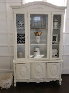 White Provincial Hutch