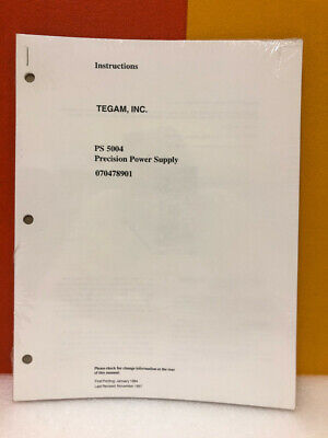 Tegam 070478901 Ps 5004 Precision Power Supply Instructions