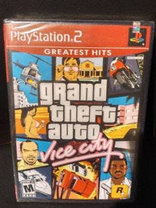 PS2 GTA Vice City: New, Newer opened