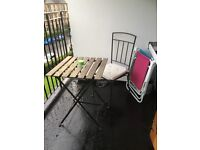 Outdoor table and chair, great condition £25