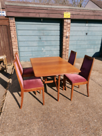 G Plan Teak Retro Dining Table and Chairs