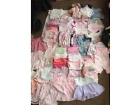 0-3 months baby girl clothes.