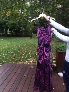 Robe de bal mauve zébrée - Purple zebra prom dress