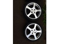 Dotz alloys . Ford fit . 4x108 . 4 brand new 205 40 17. Rs turbo etc
