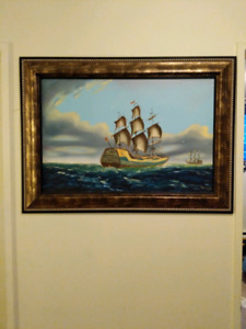 Lovely large framed painting
