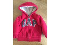 GAP Age 2 hoodie zip up sweatshirt