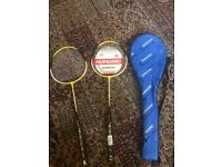 2 brand new badminton rackets