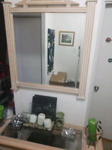 Console table with mirror for sale $140 or best offer.