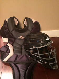 Allstar MVP Catchers Chest protector and Mask - Teen