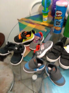 Boys shoes for sale as well as four wheeler never ridden