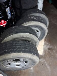 Set of 4 tires on rims/8 bolt/2012 chevy