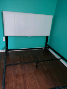Double headboard with frame