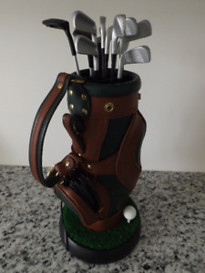 "Sports Golf Bag REAL PHONE Novelty 16"" high - Bar Man Cave"
