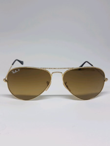 AUTHENTIC RAYBAN BROWN GOLD POLARIZED AVIATORS  $80! QUICK SALE