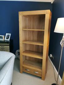 Oak Furniture Land Shelf Unit with drawer. SOLD