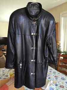 Manteau cuir fin