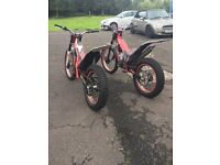 Gas Gas Trials Bikes and Trailer