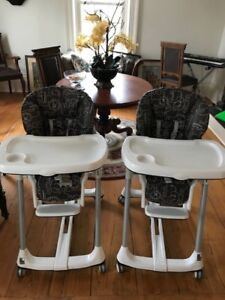 HIGH CHAIRS - Two PEG PEREGO Pappa Diner chairs