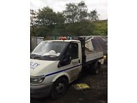 Ford transit tipper 115 spares or repairs