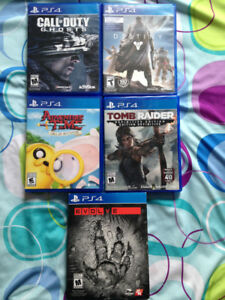 5 PS4 GAMES LEFT