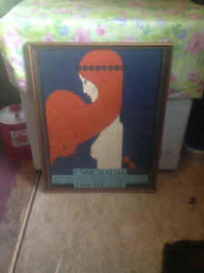 VINTAGE 1978 THEO DIMSON FRAMED THEATRE POSTER